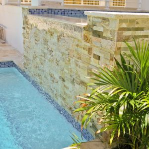 Outdoor Designs with Stacked Stone Tile