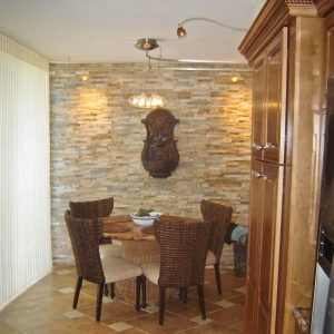 Dining Room / Kitchen Designs with Stacked Stone Tile