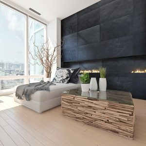 Bedroom Designs with Stacked Stone Tile