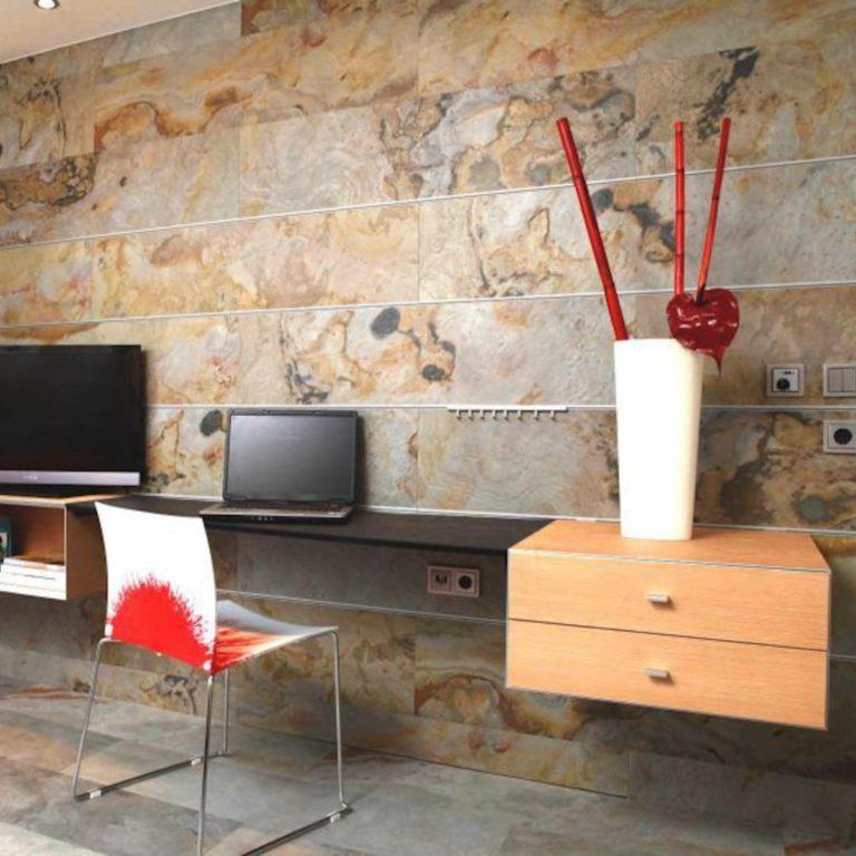 Bedroom Designs with Natural Stone Veneer