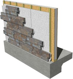 building board stacked stone tile