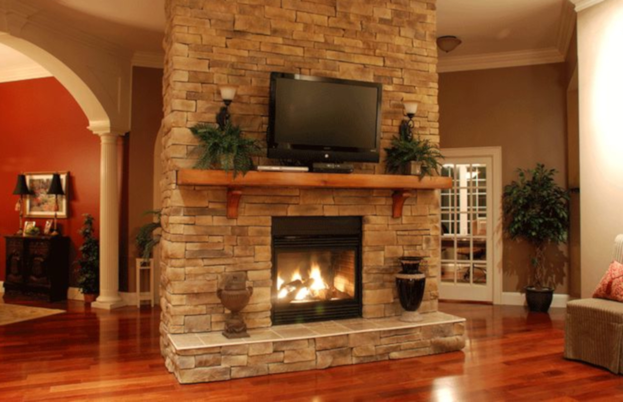 Stacked Stone Tile For Fireplaces   The Modern Fireplace Ideas For Your  House